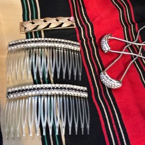 5 piece Lot of Vintage Hair Accessories.